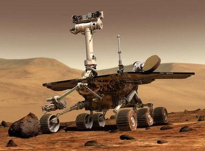 Foto del robot explorador espacial Spirit en Marte