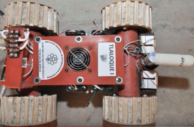 Robot Tlaloque I en Teotihuacan para explorar yacimientos arqueológicos