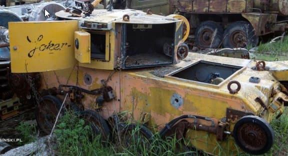 robot explorador Joker alemán en Chernobyl