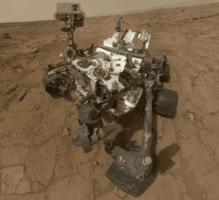 rover Curiosity Mars Science Laboratory o MSL sacando imágen de 360 grados