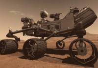 Robot espacial Curisity Mars Science Laboratory o MSL de la NASA en el Planeta Marte