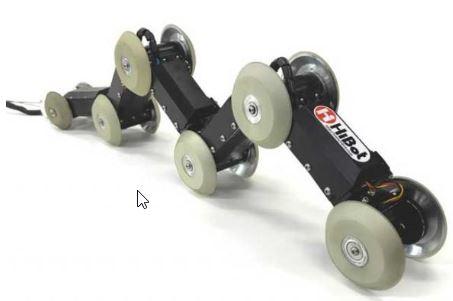 robot explorador THES-Black que explora e inspeciona tuberías fabricdo por la empresa de robótica Hibots
