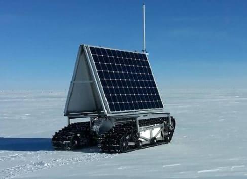 robot de investigación en la nieve de groelandia de la NASA